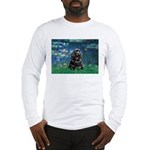 Lilies (5)/Cocker (Blk) Long Sleeve T-Shirt
