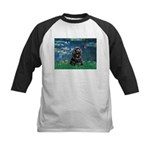 Lilies (5)/Cocker (Blk) Kids Baseball Jersey