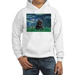 Lilies (5)/Cocker (Blk) Hooded Sweatshirt