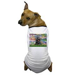 Lilies (#2)/Cocker (Blk) Dog T-Shirt