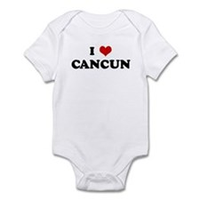 I Love CANCUN Infant Bodysuit