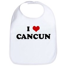 I Love CANCUN Bib