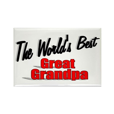 """The World's Best Great Grandpa"" Rectangle Magnet"