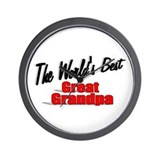 """The World's Best Great Grandpa"" Wall Clock"