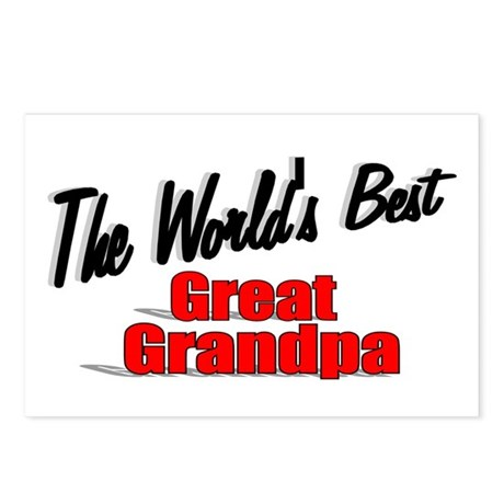 """The World's Best Great Grandpa"" Postcards (Packag"