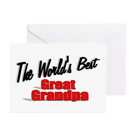 """The World's Best Great Grandpa"" Greeting Cards (P"