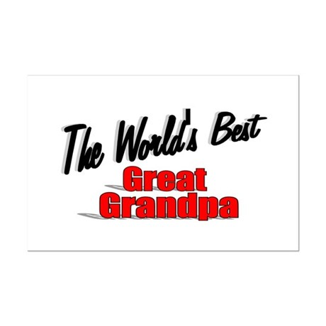 """The World's Best Great Grandpa"" Mini Poster Print"