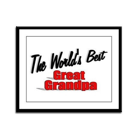 """The World's Best Great Grandpa"" Framed Panel Prin"