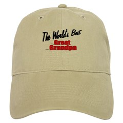 """The World's Best Great Grandpa"" Cap"