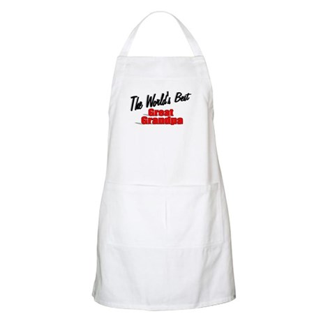 """The World's Best Great Grandpa"" BBQ Apron"