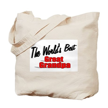 """The World's Best Great Grandpa"" Tote Bag"