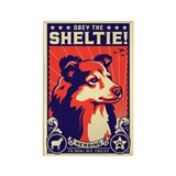 Obey the Sheltie! Dog Propaganda Magnet