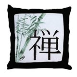 Bamboo and Zen Throw Pillow