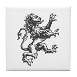 Renaissance Lion (black) Tile Coaster