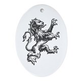 Renaissance Lion (black) Oval Ornament