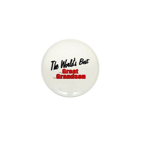&quot;The World's Best Great Grandson&quot; Mini Button