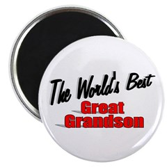 """The World's Best Great Grandson"" Magnet"
