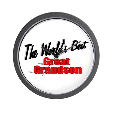 &quot;The World's Best Great Grandson&quot; Wall Clock