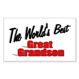 """The World's Best Great Grandson"" Decal"