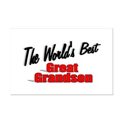 """The World's Best Great Grandson"" Mini Poster Prin"
