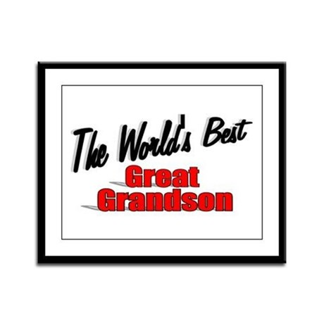 &quot;The World's Best Great Grandson&quot; Framed Panel Pri