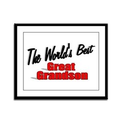 """The World's Best Great Grandson"" Framed Panel Pri"