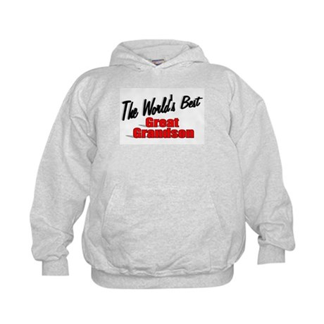 &quot;The World's Best Great Grandson&quot; Kids Hoodie