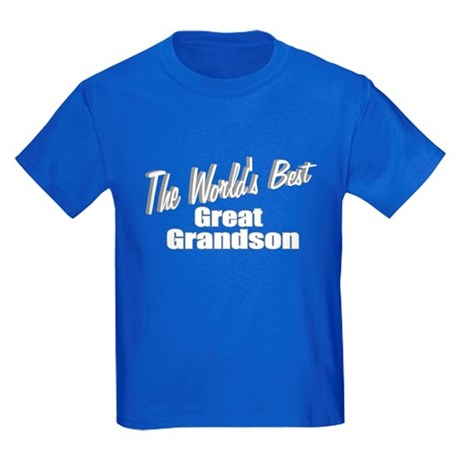 &quot;The World's Best Great Grandson&quot; Kids Dark T-Shir