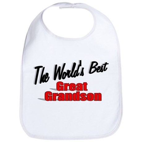 &quot;The World's Best Great Grandson&quot; Bib