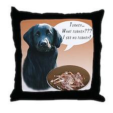 Flat-Coat Turkey Throw Pillow