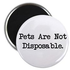 "Pets are Not Disposable 2.25"" Magnet (10 pack)"