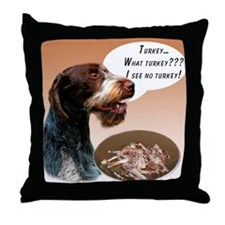 Wirehaired Turkey Throw Pillow