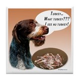 Wirehaired Turkey Tile Coaster