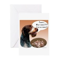 Wirehaired Turkey Greeting Card
