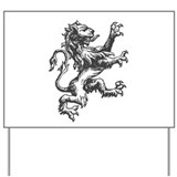 Renaissance Lion (black) Yard Sign