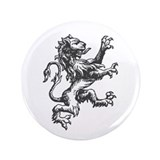 "Renaissance Lion (black) 3.5"" Button (100 pack)"