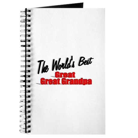 """The World's Best Great Great Grandpa"" Journal"