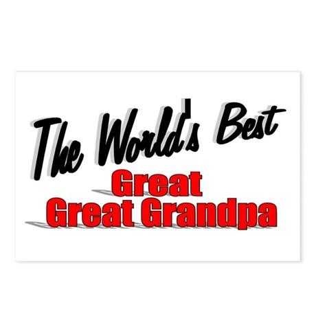 """The World's Best Great Great Grandpa"" Postcards ("
