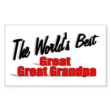 """The World's Best Great Great Grandpa"" Sticker (Re"