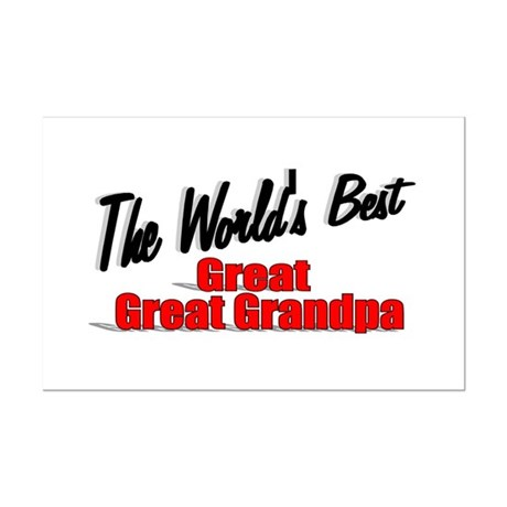 """The World's Best Great Great Grandpa"" Mini Poster"