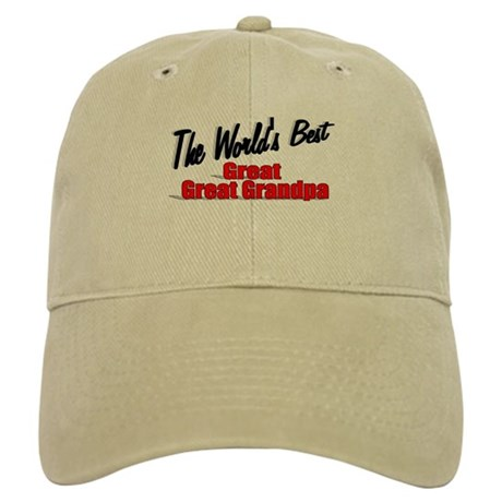 """The World's Best Great Great Grandpa"" Cap"