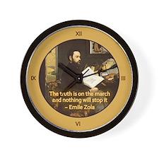 Emile Zola Wall Clock