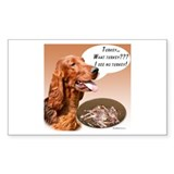 Irish Setter Turkey Rectangle Decal