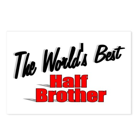 """The World's Best Half Brother"" Postcards (Package"