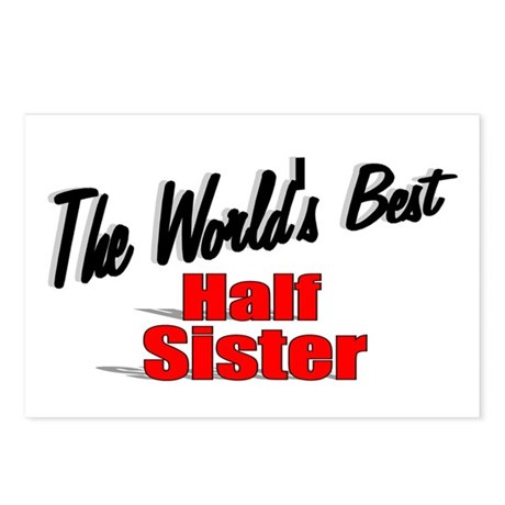 """The World's Best Half Sister"" Postcards (Package"