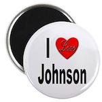 I Love Johnson Magnet