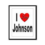 I Love Johnson Framed Panel Print
