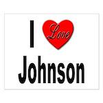 I Love Johnson Small Poster