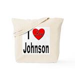 I Love Johnson Tote Bag