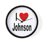 I Love Johnson Wall Clock